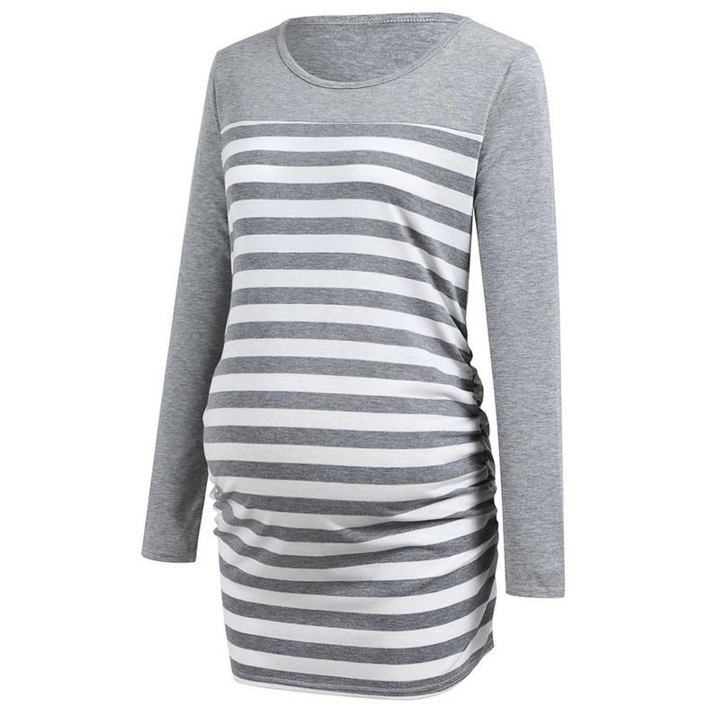 9b1c35685dc9e Maternity Clothes Pregnant Clothes Women Maternity Stripe Long Sleeve Top T- Shirt Clothes Maternity Tops Ropa Embarazada N28 Online with $39.73/Piece  on ...