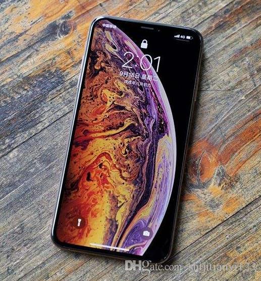 DHL 6.5inch Goophone XS MAX Core MTK6580 Smartphones Android 2G / 4G Montrer Faux 4G / 256G 4G Téléphone déverrouillé avec la boîte scellée