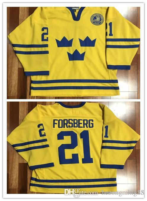 987d441ae 2019 #21 PETER FORSBERG Team Sweden Mens Hockey Jersey Embroidery Stitched  Customize Any Number And Name From Hezongming55, $41.61 | DHgate.Com