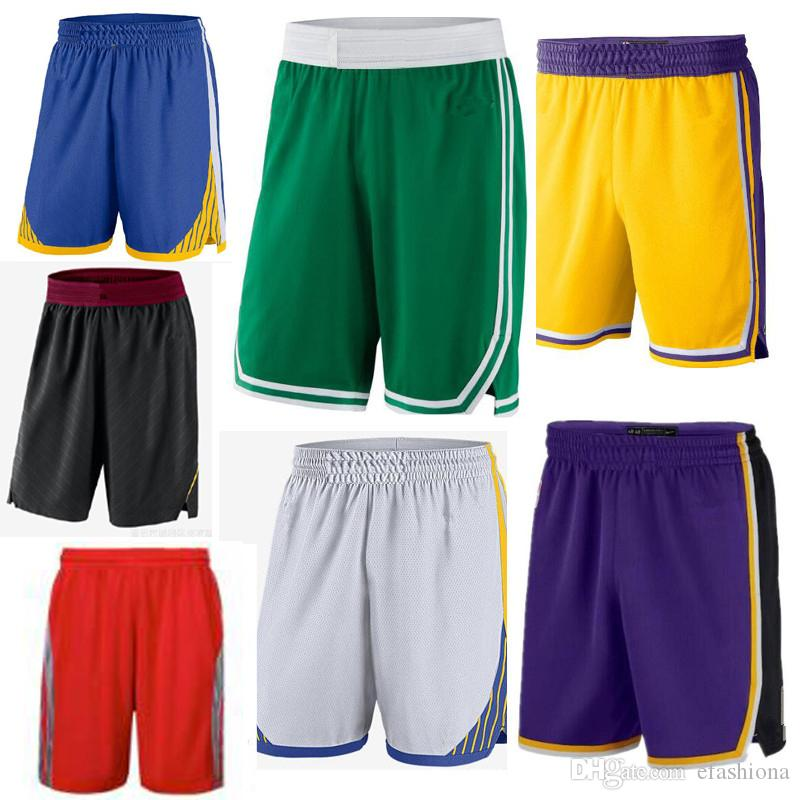 Quality Mens Basketball Shorts Teenager Running Wear Breathable Sports 2  Layers Loose Ball Pants Mens Shorts stitched 168-190CM XZT069