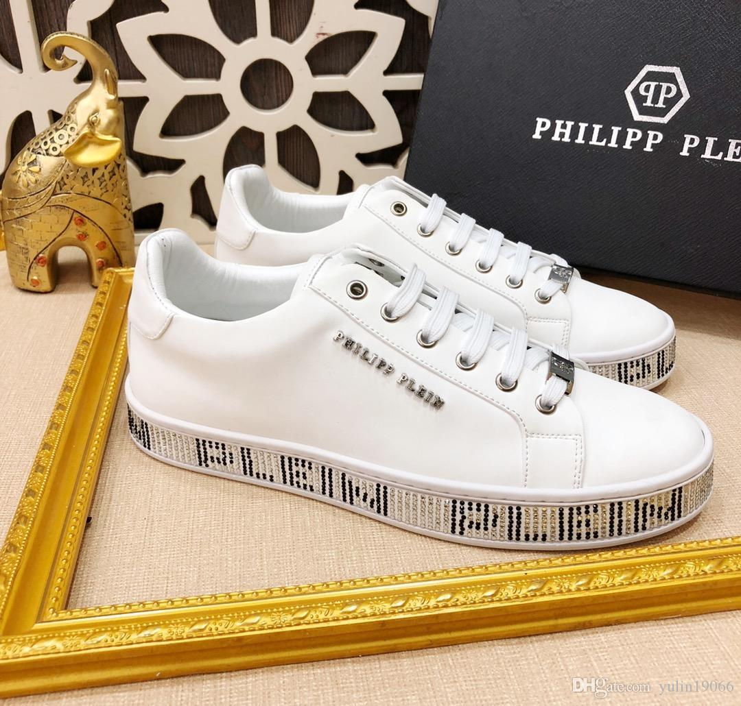 original Philipp Plein men business casual sneakers skate