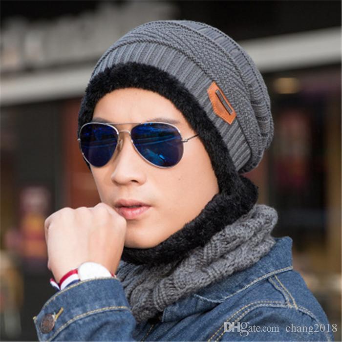 Neck Warmer Winter Hat Knit Cap Scarf Cap Winter Hats For Men Knitted Hat  Men Beanie Knit Hat Skullies Beanies Ds001 Designer Hats Designer Hats Caps  Men ... 28783952cd9