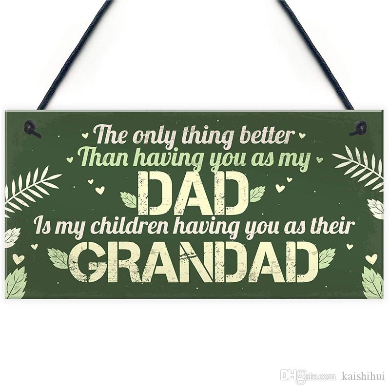 Dad Grandad Gifts Hanging Plaque Thank You Birthday For Men Him To Be Sign Decorations House The Home From