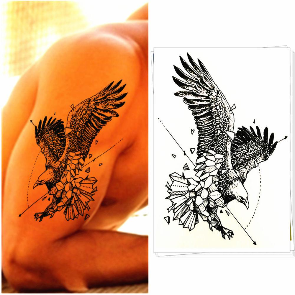 Eagle Design Temporary Tattoo Sticker - Body Art Totem Also for Men Women Cup Glasses Laptop Phone Bike Decoration