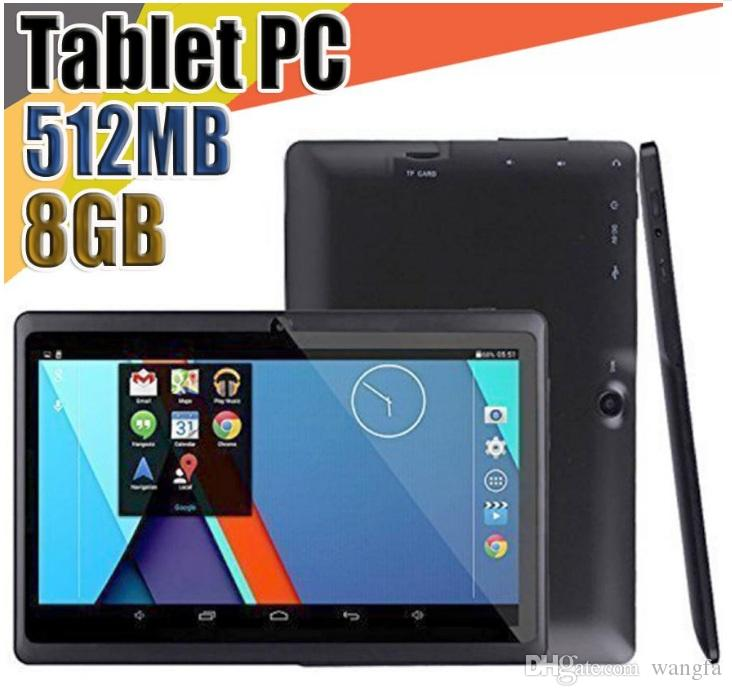 cheap tablet 7 inch tablet PC A33 Quad Core Allwinner Android 4.4 Capacitive 1.5GHz 512MB RAM +8GB ROM Dual Camera