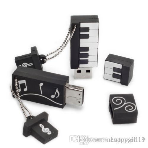 Factory price NEW ARRIVAL Sales promotion Genuine Cartoon Usb Flash Drive Keyboard Pendrive Electronic Organ Usb Memory U252