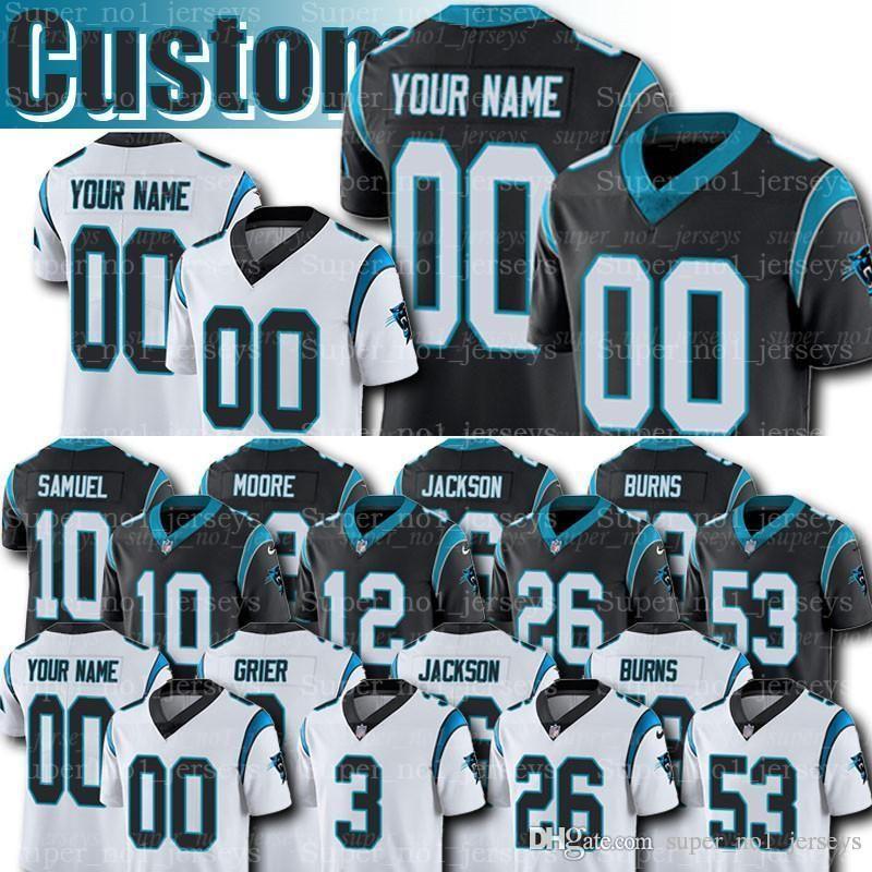 the best attitude a8f85 f1c19 Custom Carolina Panthers Jerseys 3 Will Grier 93 Gerald McCoy Jersey Eric  Reid Brian Burns Greg Little Donte Jackson Godwin DJ Moore