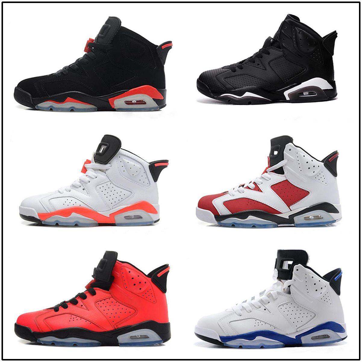 759e4cf5 Compre Nike Air Jordan Aj6 Niños Zapatillas De Deporte De Calidad Caliente  Zapatos De Baloncesto 6 6 S Niños Niñas Niños Deporte Exterior Zapatillas  De ...