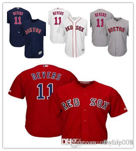 new arrival 048f9 c0d40 Men's Red Sox 11 Rafael Devers Majestic Navy Alternate Authentic Collection  Flex Base Player Boston Jersey