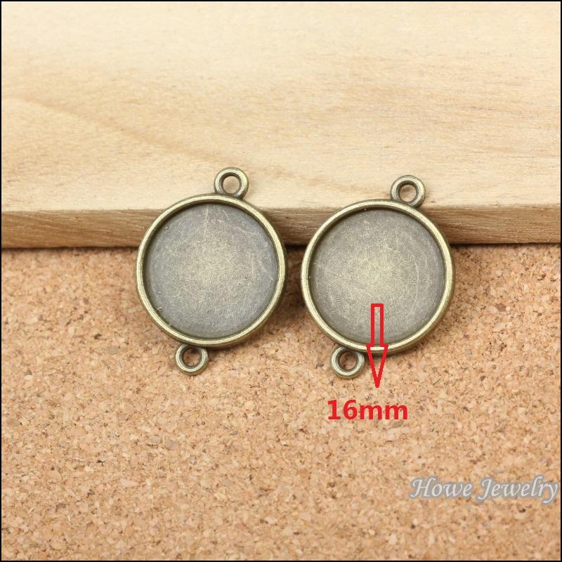 Wholesale 210 pcs Vintage Charms Round frames Pendant Antique bronze Fit Bracelets Necklace DIY Metal Jewelry Making