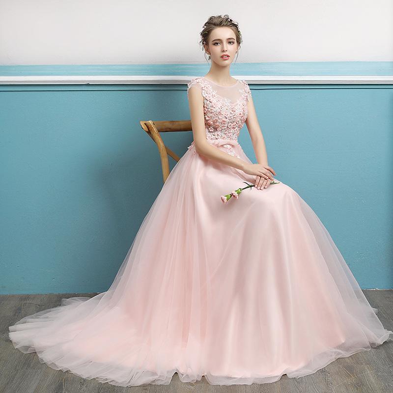 e7d7b1656b0983 robe de soirée femme de demoiselle d honneur robe de mariée nouveau dîner  long banquet de dentelle toast costume LF136