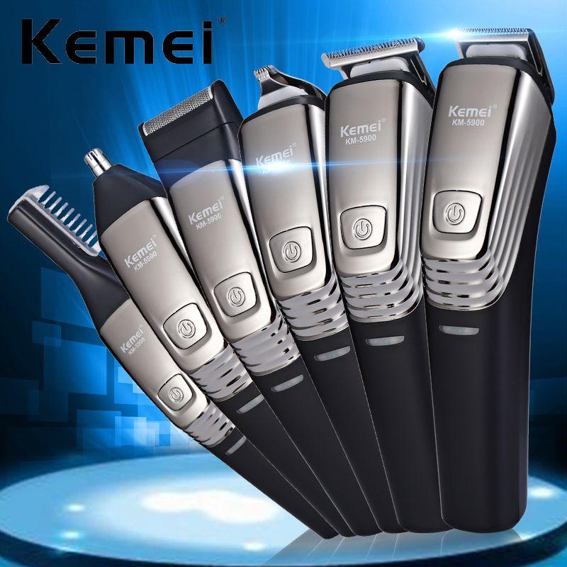 2019 Kemei 5900 Powerful Hair Trimmer Titanium Clipper Rechargeable