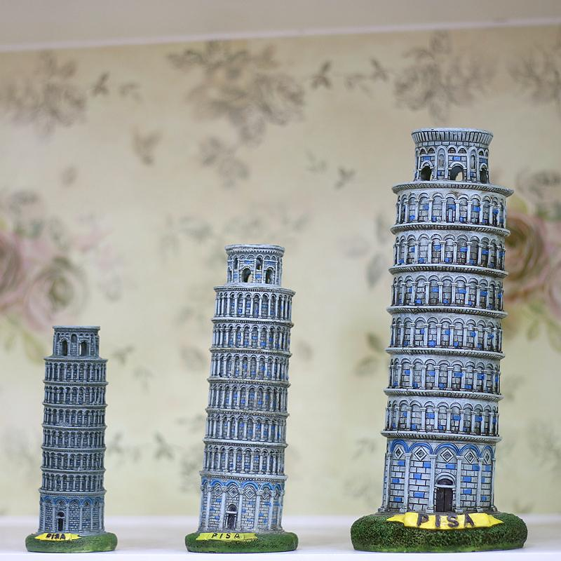 Italy Architecture Leaning Tower Of Pisa Model Crafts Ornament European-style Home Decor Travel Souvenir Torre Di Pisa Figures J190712