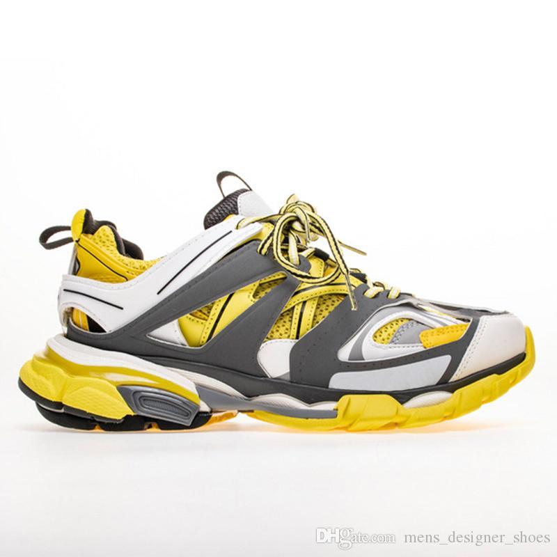 detailed look 66f6c 96ee0 ... Hommes Gomma Maille Noir Faible Track 3M Triple S Chaussures De Course  Extérieur Jogging Chaussures Designer De  174.62 Du Mens designer shoes    DHgate.