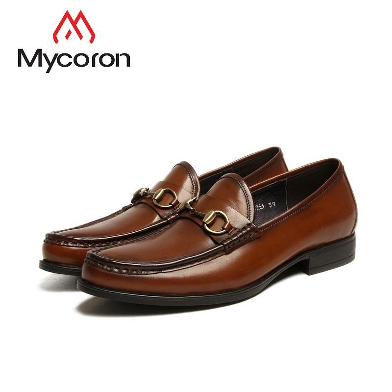 e9a6b430390309 Acheter MYCORON Nouveau Produit De Luxe Hommes Chaussures Hommes Bottes  Formelles Véritable En Cuir Respirant Bureau Chaussures Hommes Chaussure  Homme Cuir ...