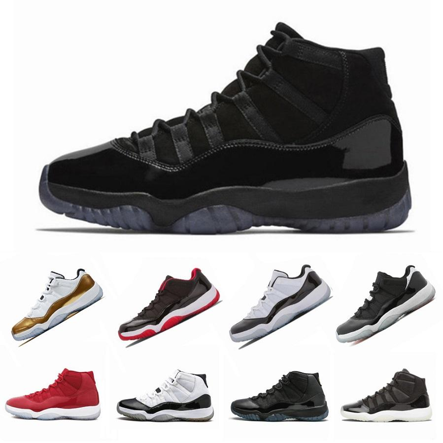 AAA + 11 11s XI Baskets Platinum Tint Chaussures de basketball pour hommes Chapeau Robe de bal des finissants Gym Red Bred Barons Concord Chaussures