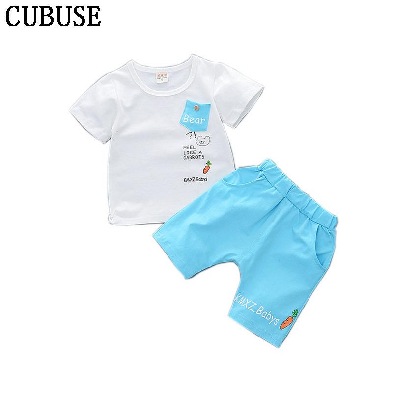 7cc457632 2019 Baby Boy Clothes 2018 Summer Children S Clothing Sets T Shirt+ ...