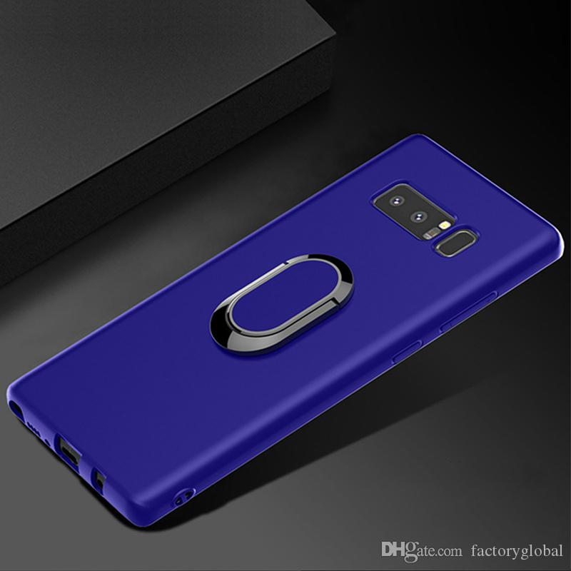 Creative 2 In 1 TPU Phone Case Cover Magnetic Ring Stand Holder for Samsung S10 plus Note 9 DHL