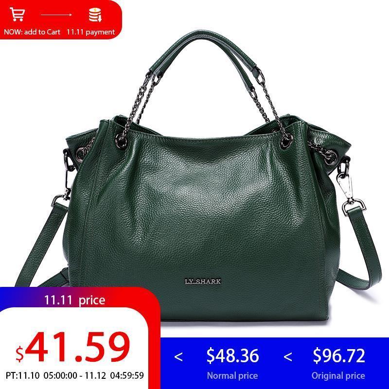 74f8cb5feed 2019 Fashion LY.SHARK Messenger Bag Women shoulder Bags For Women 2018  Luxury Handbags Women Bags Designer Female Bag Ladies Genuine Leather