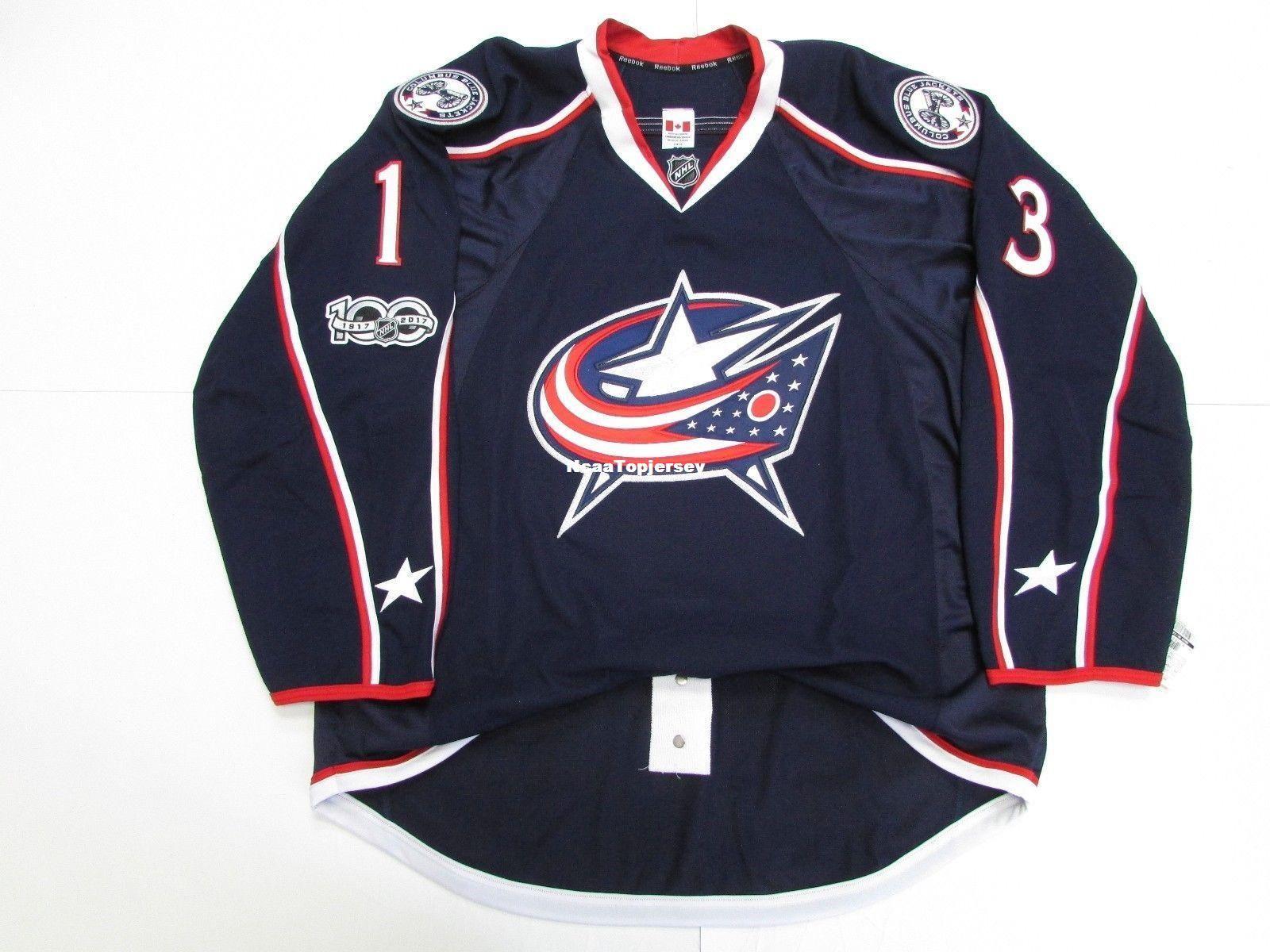Cheap Custom ATKINSON COLUMBUS BLUE JACKETS HOME 100th ANNIVERSARY JERSEY  Stitch Add Any Number Any Name Mens Hockey Jersey XS-6XL Retro Hockey Jersey  Cheap ... f682a1ab4