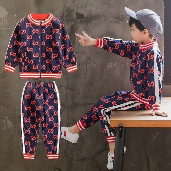 Korean Boys'Autumn Suit 2019 New Kids' Handsome Spring and Autumn Boys'Fashion Clothes, Leisure and Loose Sports Suit