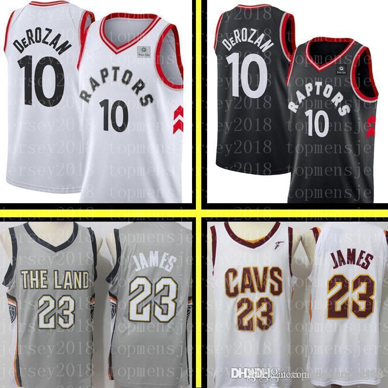 half off 94e2e 3249f Demar 10 DeRozan Toronto Cheap Raptors Jersey Cleveland 23 LeBron James  Cavaliers Basketball Jerseys Mens Embroidery Logos