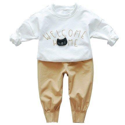 c894bbd54 2019 Spring Autumn Baby Boys Clothes Full Sleeve T-shirt Pants 2pcs Cotton  Suits Children Clothing Sets Kids Toddler Tracksuits
