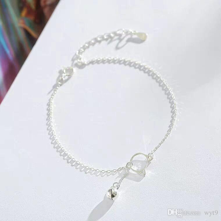925 pure silver cat fashion bell bracelet female beauti Korean version of simple personality lovely little fresh students boudoir honey gift