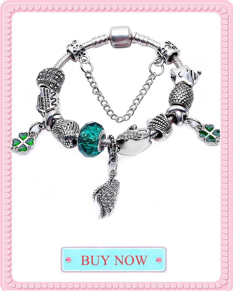 Baopon de alta calidad de la vendimia pandora pulsera brazaletes de estilo europeo fit mujeres del encanto pulseras brazaletes diy fabricación de joyas