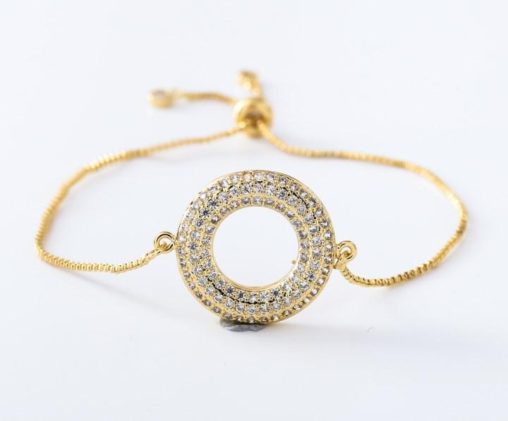 gold silver Chain micro pave cz Zircon Cubic Zirconia bracelet rope adjusted Macrame round Bangle jh543 Fashion Jewelry