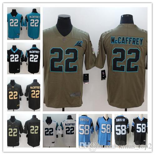 new mens 22 christian mccaffrey jersey carolina panthers football rh dhgate com