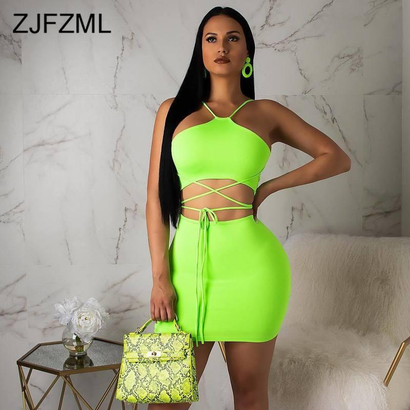 2e50b6d5c283f 2019 Summer Two Piece Set Women Sexy Club Outfits Off The Shoulder Backless  Crop Top And High Waist Mini Skirts Casual Bandage Dress From Jasonstuff