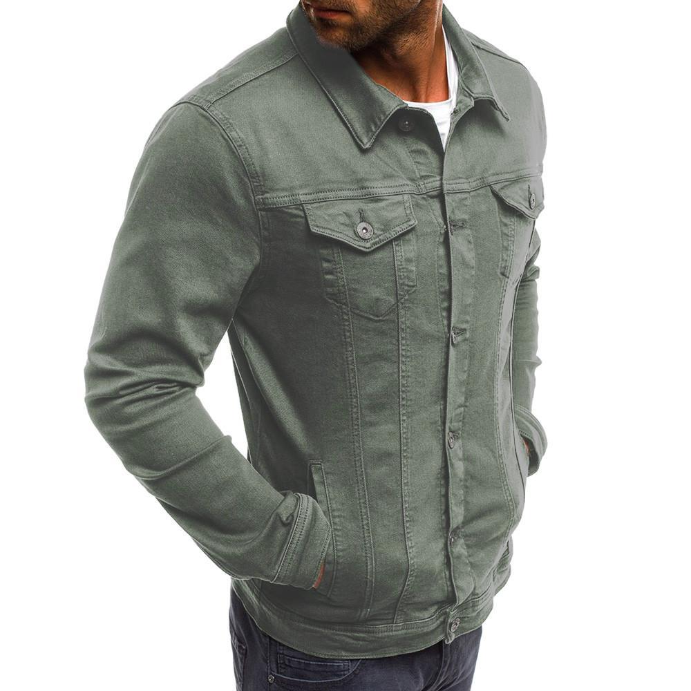 Acquista Giacche Di Jeans Da Uomo Di Alta Qualità 2018 Giacche Di Jeans  Moda Slim Fit Casual Streetwear Vintage Uomo Jean Abbigliamento Plus Size    0924 A ... 0da4bcfaaff
