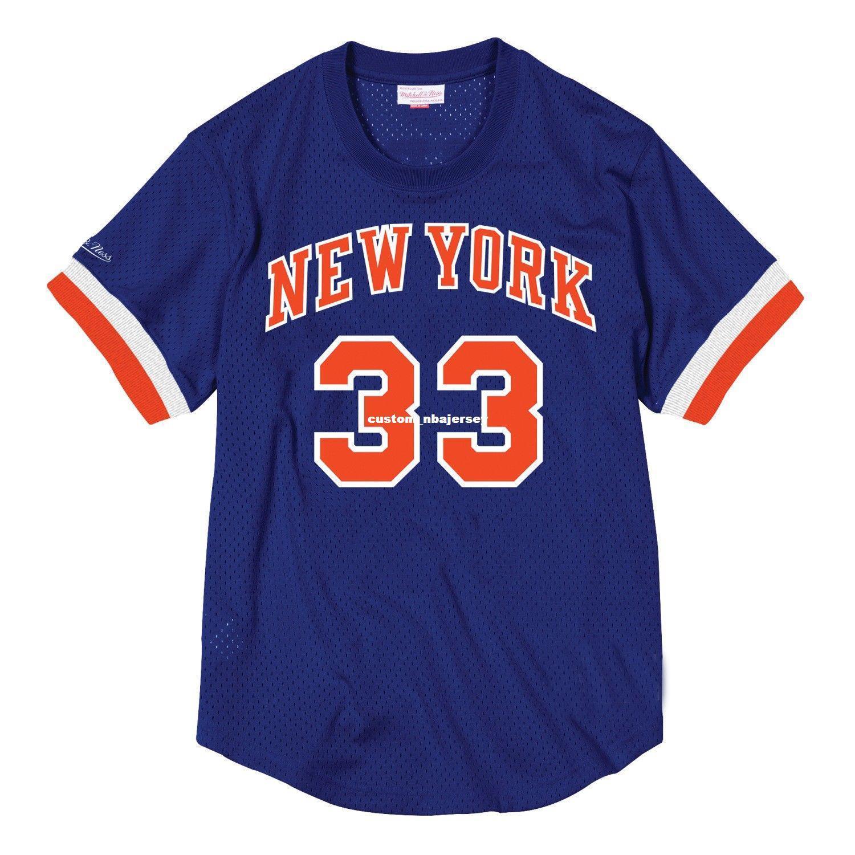 buy popular 1e14f 9096e Cheap Custom Patrick Ewing Mitchell & Ness Men s Mesh Jersey Shirt Mens  stitched Summer Tee Retro basketball jersey