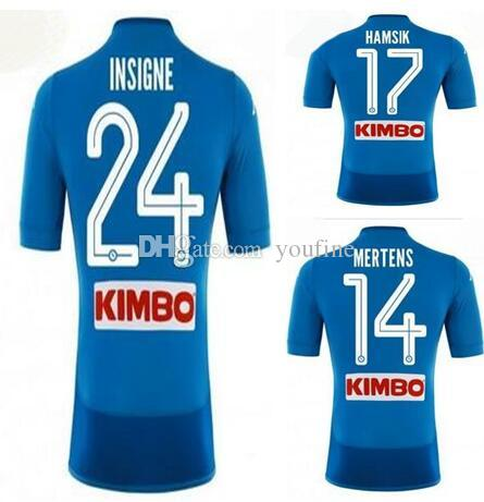 d814e5f12 2019 Customized 18 19 Napoli Home Naples Soccer Thai Quality Soccer Jersey  Shirts