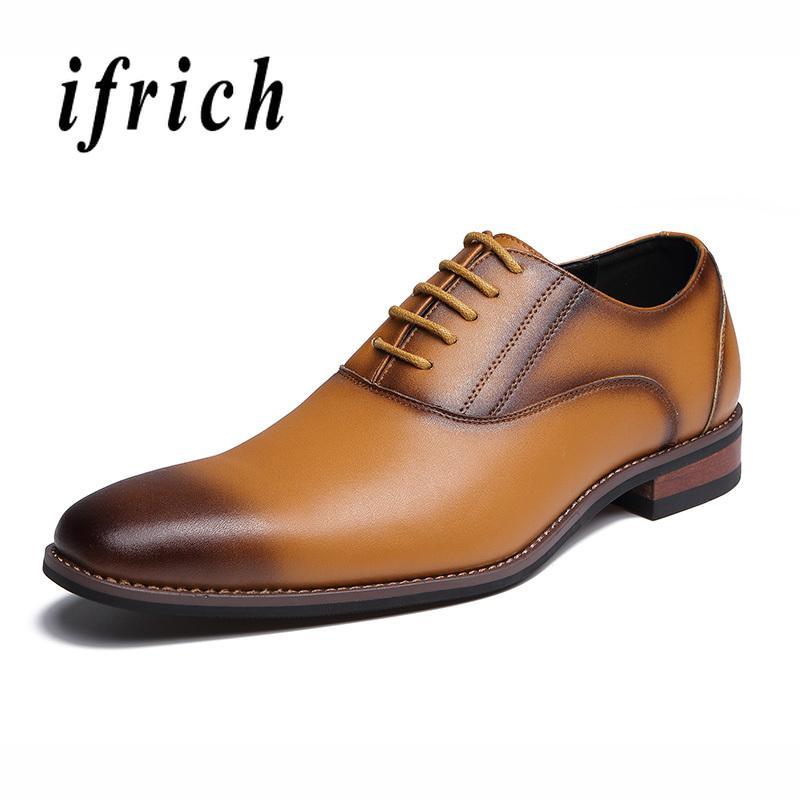 4668c6f0952 Compre Zapatos De Vestir De Negocios Para Hombres Zapatos Oxford Negros Y  Marrones Hombres Suela De Goma Puntiaguda Antideslizante Elegantes Hombres  ...