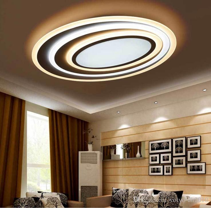 2019 Dimming Remote Control Modern Led Ceiling Lights For Living Room Bedroom Temperature New Design Lamp Fixtures LLFA From Volvo Dh2010