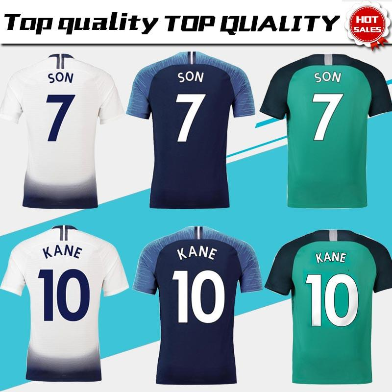 #10 KANE #7 SON soccer jerseys home white away blue 18/19 League football club shirt #20 DELE #23 ERIKSEN 3rd Men's jerseys short sleeves