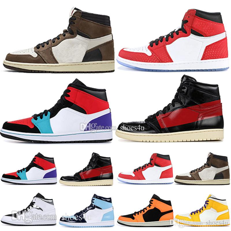 online retailer b1e51 3b3c9 1 High OG Travis Scotts Basketball Shoes Spiderman UNC 1s Top 3 Mens Homage  To Home Royal Blue Men Sport Designer Sneakers Trainers Basketball Games  Tennis ...