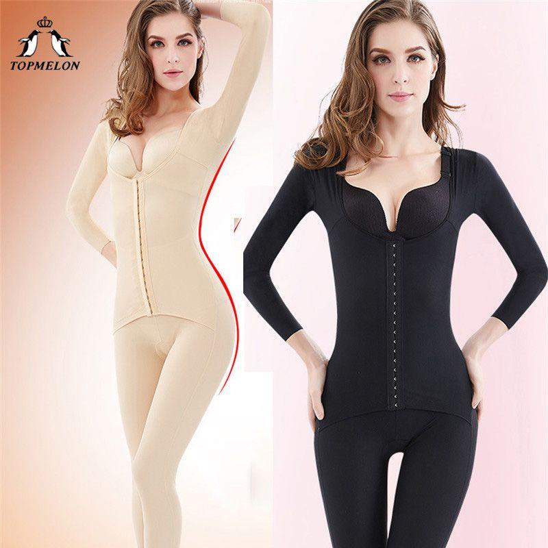 fa6e18dd89d48 TOPMELON Long Body Shaper Women's Binders and Shapers Slimming Shapewear  Full Length Plus Size Bodysuit for Women S-3XL