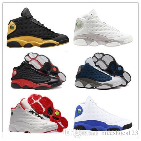 e7979af7875878 Cheap 2019 High Quality Shoes 13 XIII 13s Men Basketball Shoes Women Bred  Black Brown White Hologram Flints Grey Sports Sneakers Cheap Shoes 4e  Basketball ...