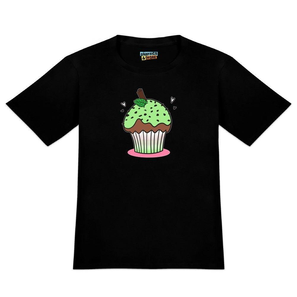 Mint Chocolate Cupcake Men's Novelty T-Shirt Classic Quality High t-shirt Tees Custom Jersey t shirt Style Round Style tshirt