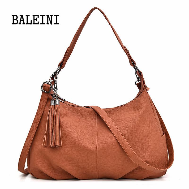 cb3e3da0fdb3 Fashion Leather Women Handbags Hobo Tassel Women Shoulder Bags Big Tote  Ladies Hand bags Female Crossbody for 2019