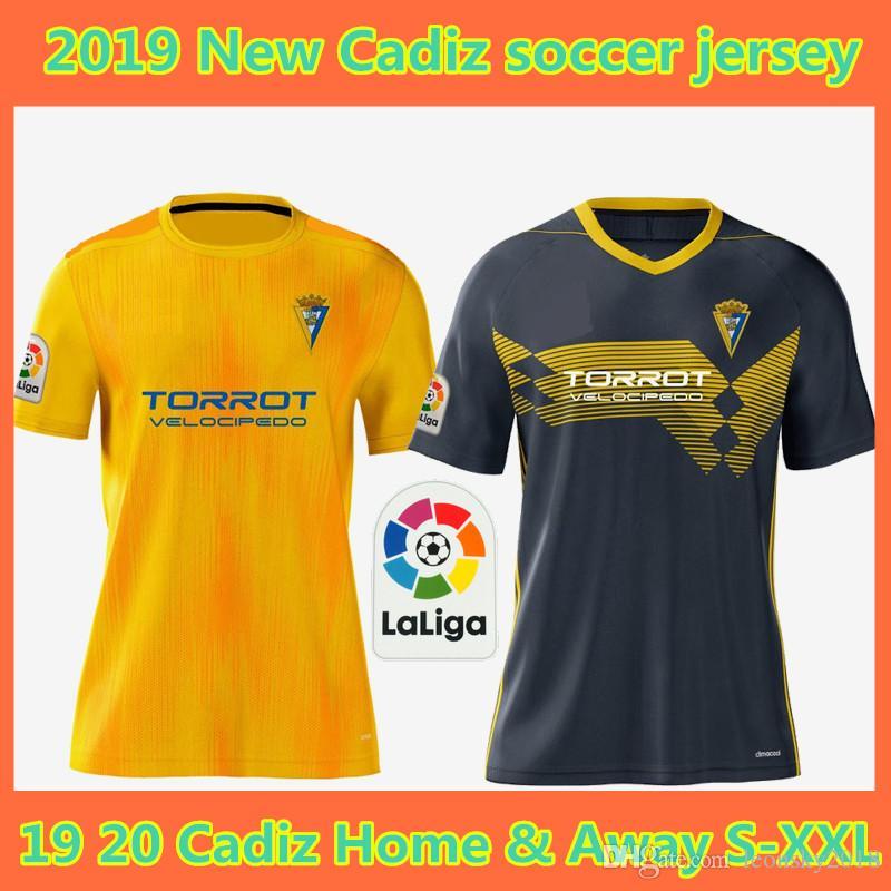 19 20 Cadiz soccer jerseys 2019 2020 home away camisetas de fútbol Fernández Jovanovic Carmona Garrido Akapo football shirts top thailand