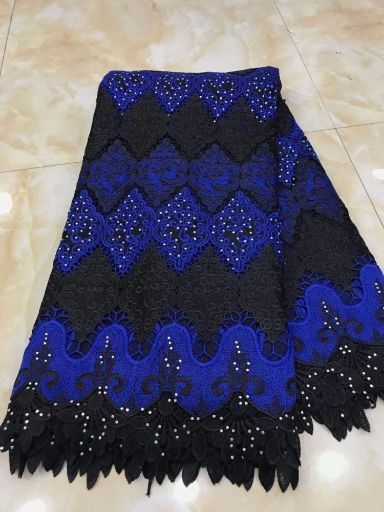 d4389aded5f7 New Design African Lace Fabrics,2019 High Quality Guipure Lace Fabric Blue  Color Cord Lace for Nigerian Wedding Dress Fabric Online with $201.08/Yard  on ...