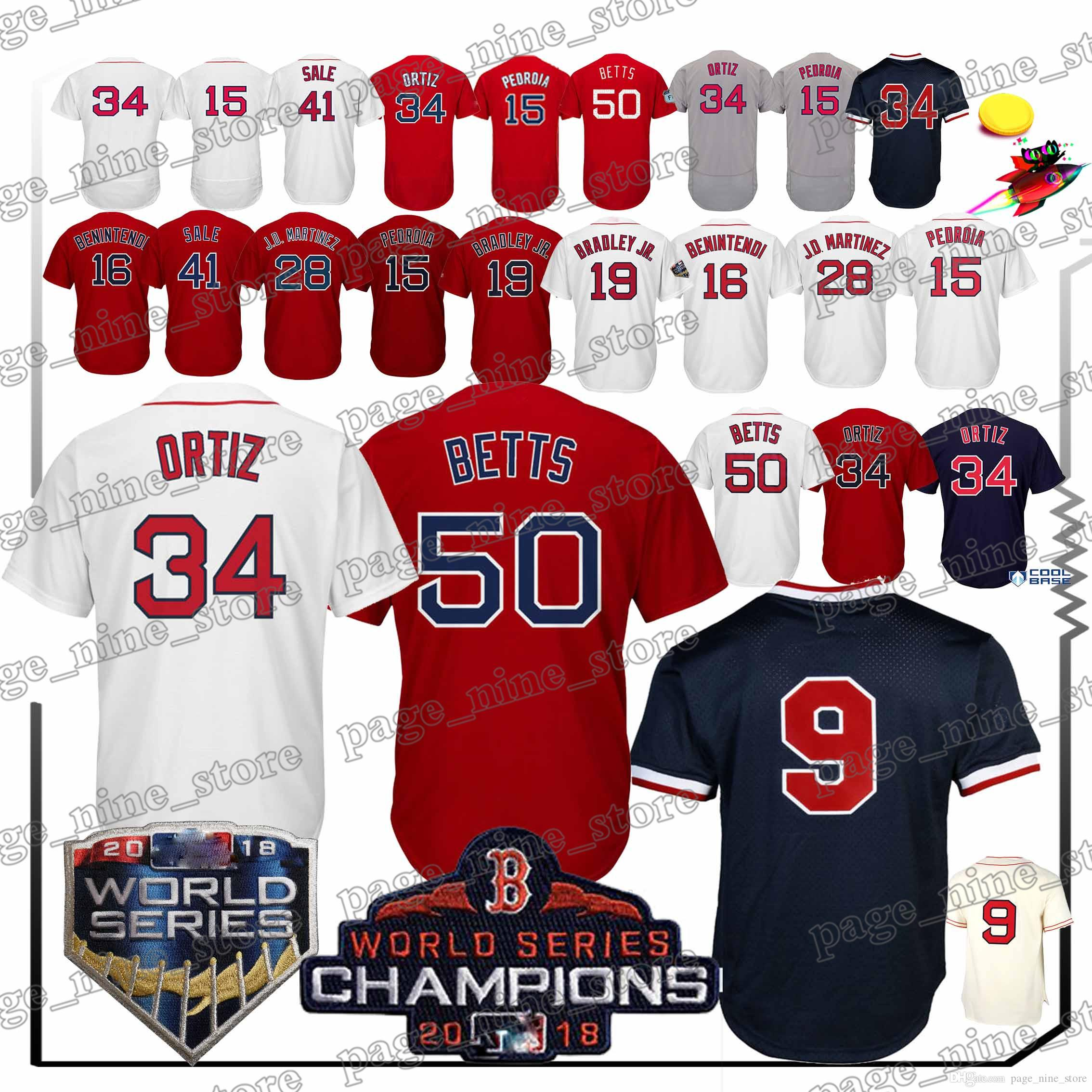 2019 Boston Red Sox Jerseys 50 Mookie Betts 34 David Ortiz Hot Sale High  Quality 2018 New Jersey Sportswear From Page nine store 730d912f920