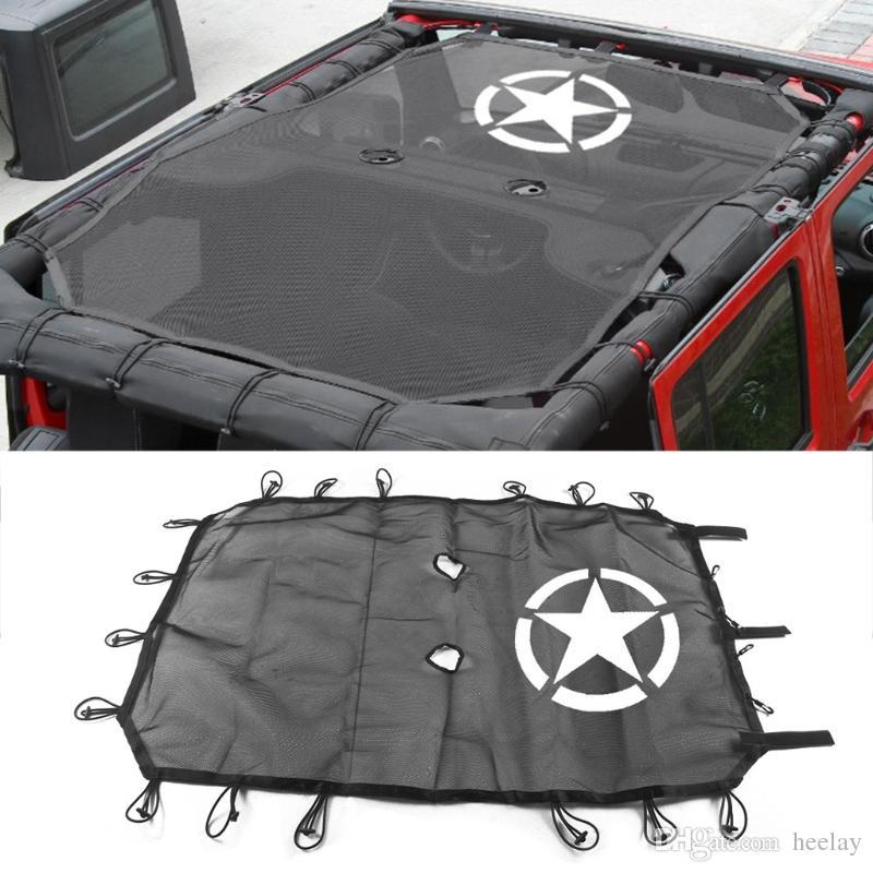 New Fit Jeep Wrangler Jk 4 Door Five Star Roof Mesh Sun