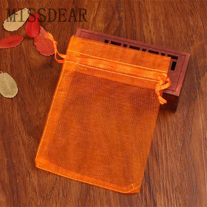 100 pçs / lote Multi Cores Sacos de Organza 15x20 cm Drawable Jóias Bolsas de Cosméticos de Casamento Embalagem de Jóias Sacos de Tule Saco de Presente