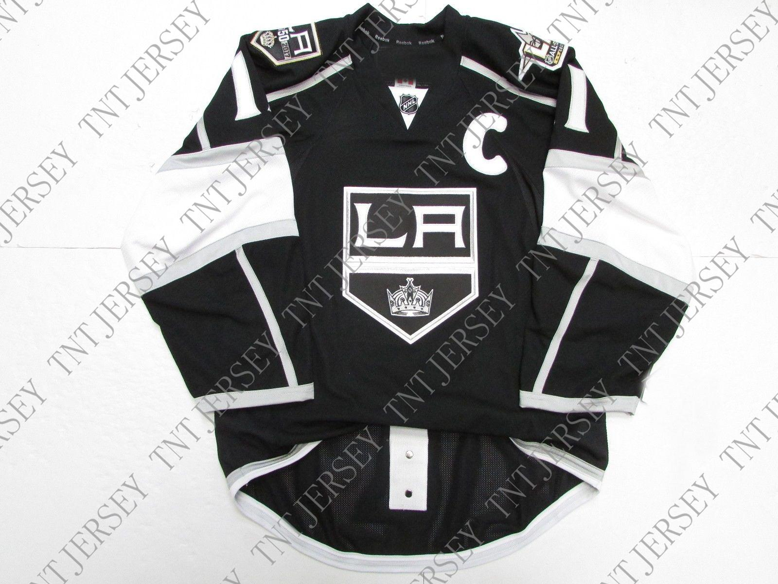 newest ea16d e8493 Cheap custom Anze Kopitar LOS ANGELES KINGS HOME 50th ANNIVERSARY JERSEY  stitch add any number any name Mens Hockey Jersey XS-5XL