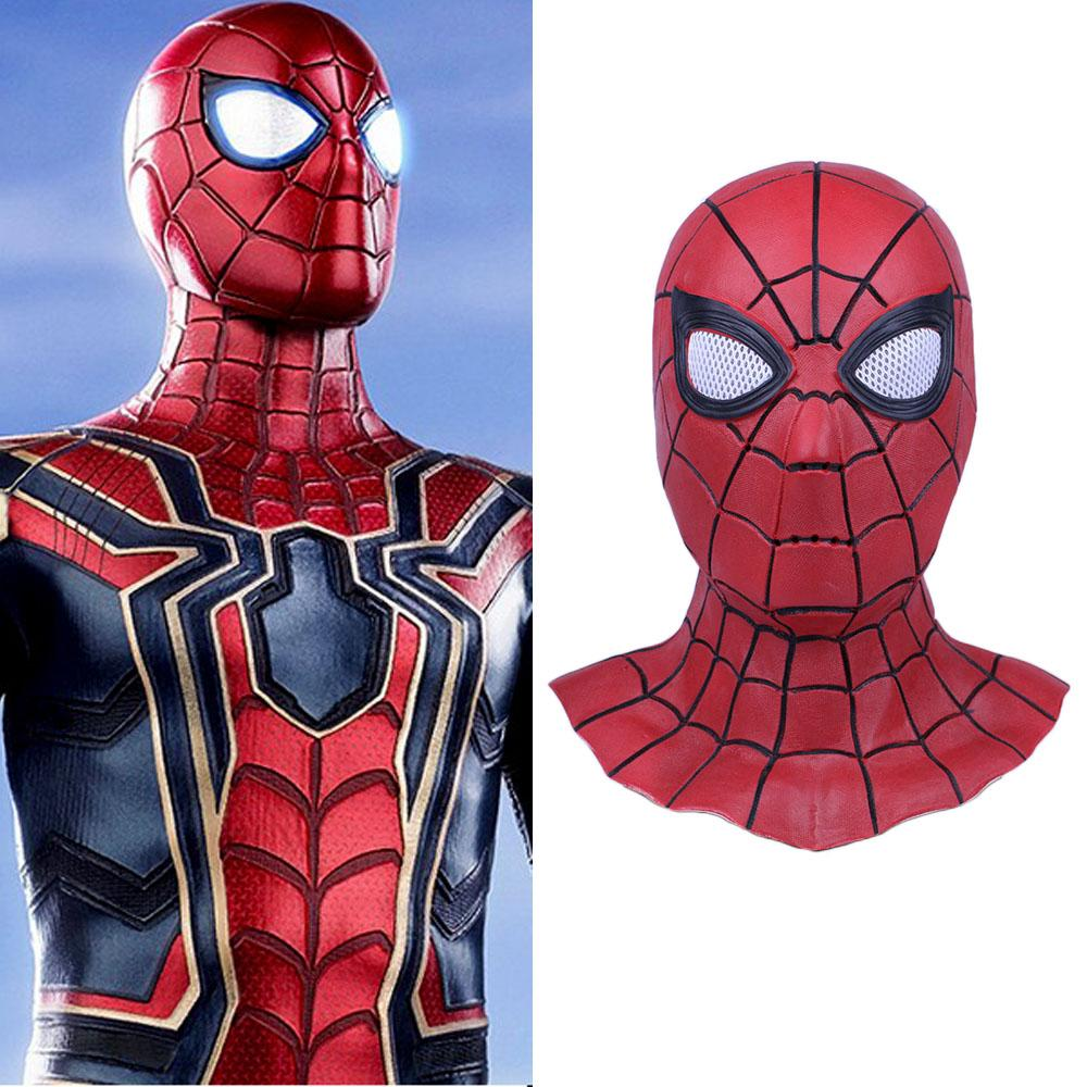 Movie Cos Spiderman Ps4 Game Cospaly Spider-man Mask Cosplay Costume Headwear Hat Mask Prop Halloween Free Shipping Free Size Novelty & Special Use Costume Props